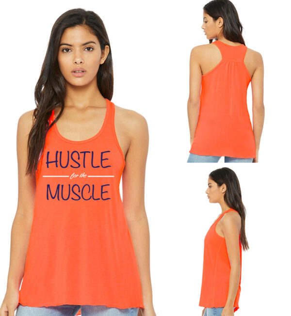 Hustle for the Muscle Coral Tank