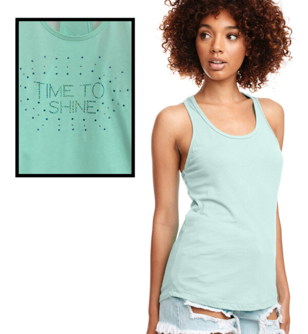 Time to Shine Mint Tank