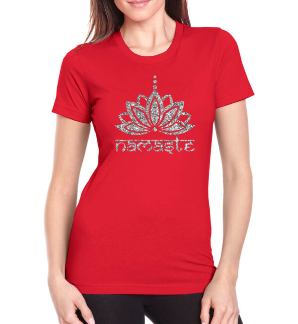 Namaste Red Tee Front