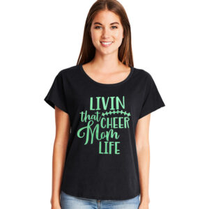 Living that Cheer Mom Life Tee
