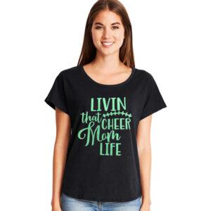 Living that Cheer Mom Life Tee
