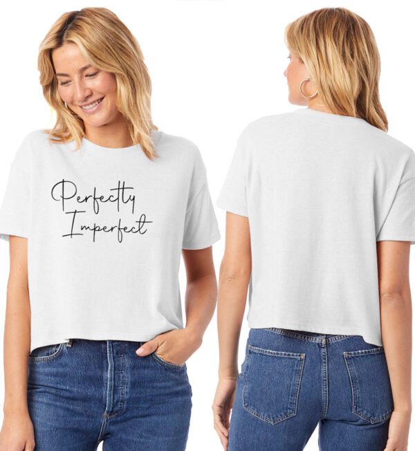 Perfectly Imperfect White Cropped T-Shirt