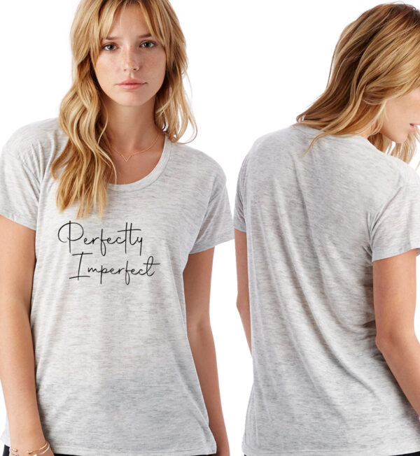 Perfectly Imperfect Oatmeal Heather Slinky Jersey T-Shirt