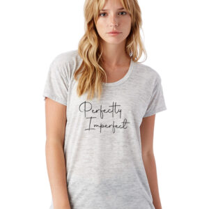 Perfectly Imperfect Oatmeal Heather Slinky Jersey T-Shirt Front
